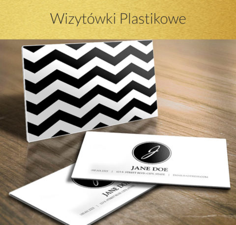 wizytówki plastikowe