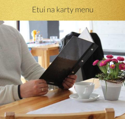 Etui na karty menu